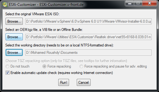 Can't install ESXi 5 5/6 0 in your home lab because of the network