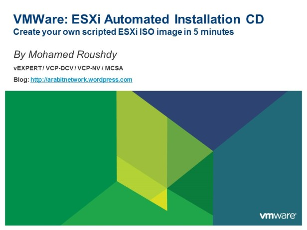 VMWare - scripted installation
